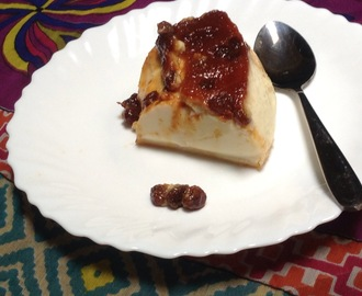 Baked Biscuit pudding with raisins