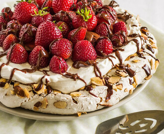 Almond Pavlova with Strawberries