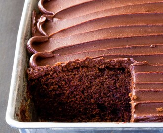 Chocolate Sour Cream Cake with Chocolate Frosting