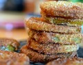 Cornmeal Crusted Fried Green Tomatoes with Tangy Remoulade Sauce