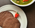 Ragi Roti and Spinach Curry