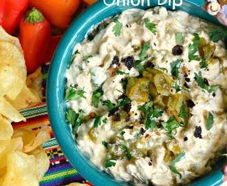 Roasted Poblano Onion Dip and How to Stock a Pantry