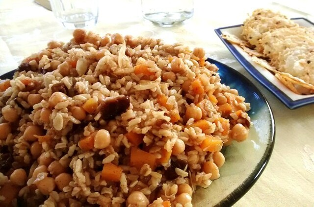 Meatless Monday: Rice Salad with Chickpeas, Dates and Butternut Squash