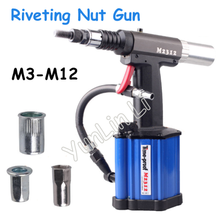 Automatic Pull Rivet Gun Riveters Applicable to M3 - M12 Rivet Nut Pneumatic Riveting Nut Gun M2312