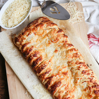 Chicken Alfredo Braid
