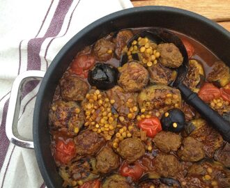 Persian Aubergine (Eggplant) Stew with Meatballs & Dried Lime