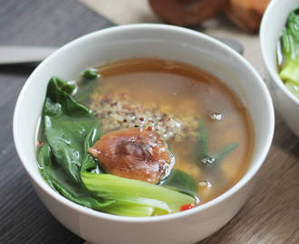 Asian Quinoa Broth Bowl