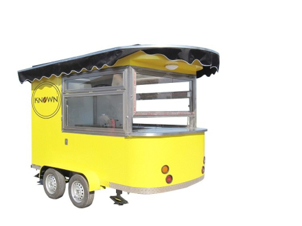 KN-320 Coffee Mobile Food Truck Ice Cream Cart Hot Dog Mobile Food Cart /Trailers with free shipping