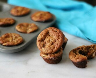 Flourless Banana and Peanut Butter Mini Muffins
