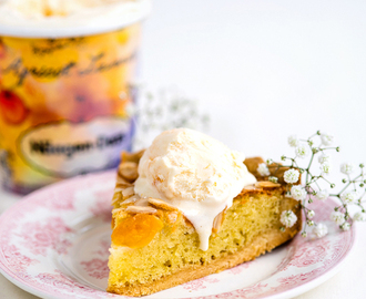 Apricot, Almond and Ricotta Frangipane Tart with Apricot Lavender Ice cream