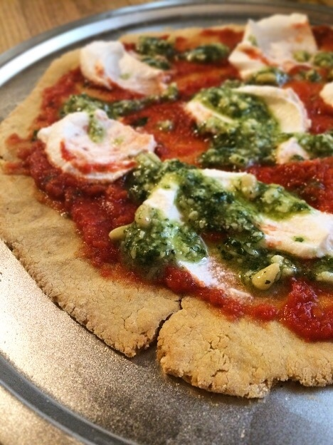 Chickpea Pizza Crust- it's gluten free!