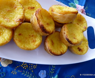 Montreal Portugal connect - Pasteis de NATA style Puff pastry cups
