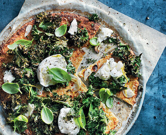 Donna Hay's Cauliflower Pizza With Mozzarella, Kale & Lemon