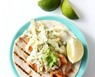Fish Tacos with Jalapeno Slaw
