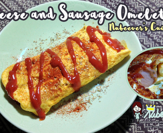 [Nubeever's Cuisine] Cheese and Sausage Omelette (ไส้กรอกชีสห่อไข่)