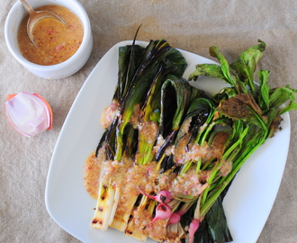 Grilled Leeks Vinaigrette Recipe