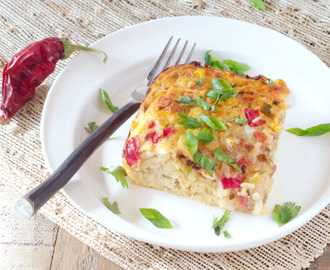 Mexican Breakfast Casserole  #SundaySupper - Food That Travels Well