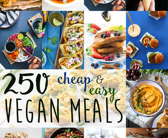 250+ Cheap & Easy Vegan Meal Ideas