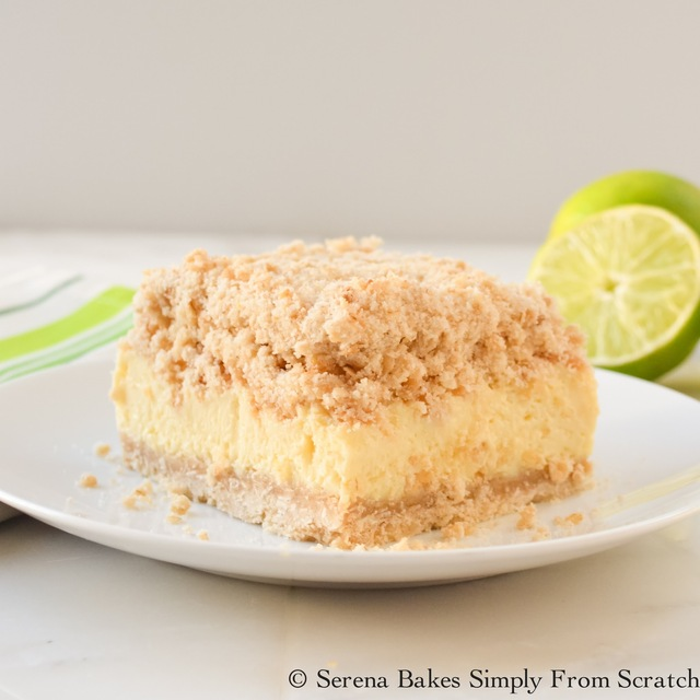 Key Lime Cheesecake Crumb Bars #SundaySupper