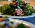 Two Kale & Summer Berry Salad with Balsamic Vinaigrette