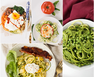 10 Spiralized Zucchini Recipes Under 300 Calories