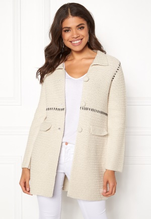 Odd Molly Crochet Grandma Coat Chalk L (3)