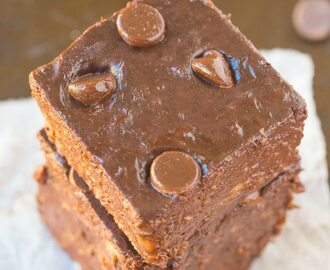 Healthy 2 Ingredient Flourless Brownies