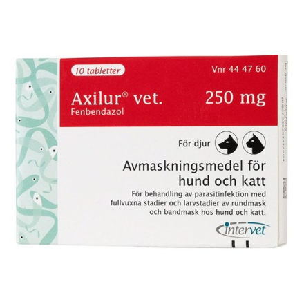 Axilur vet., tablett 250 mg 10 st