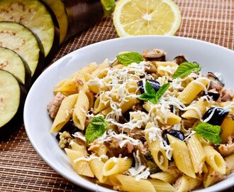 Roasted Eggplant Pasta Salad Recipe
