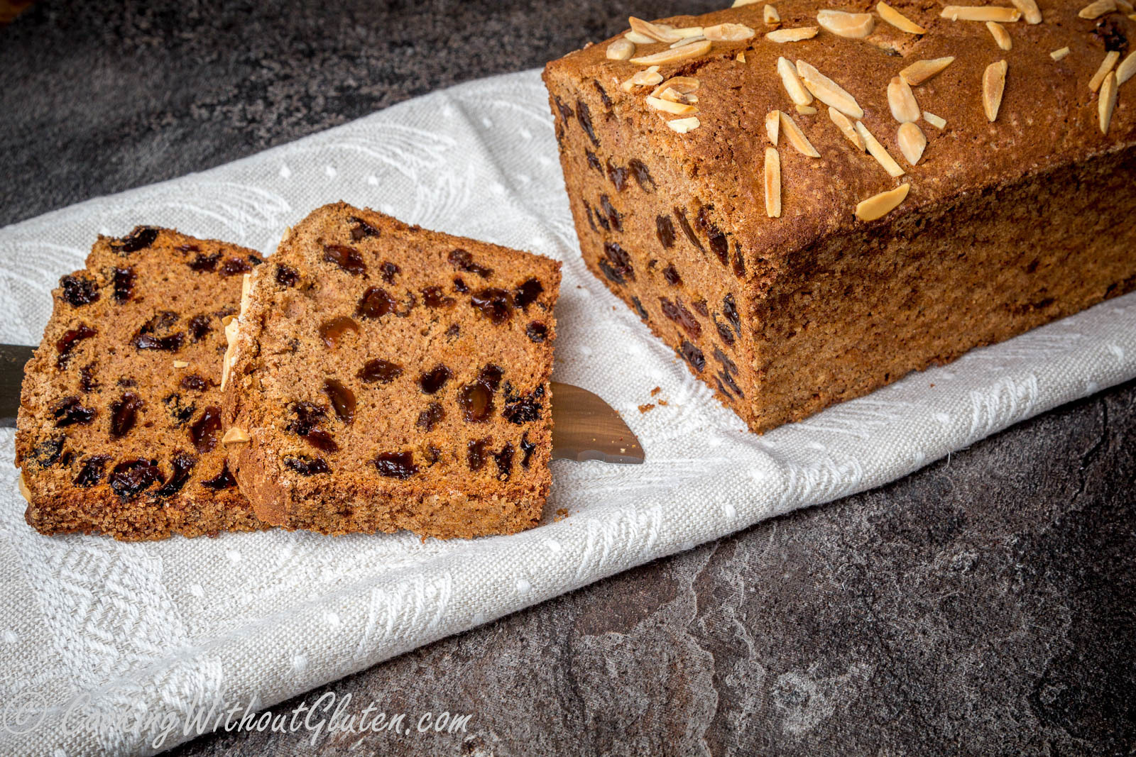 Gluten Free Buckwheat Loaf Cake with Walnuts and Dried Apricots