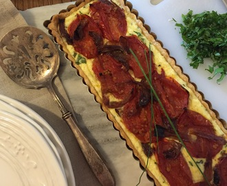 Roasted Tomato, Ricotta And Herb Tart For Fiesta Friday #76