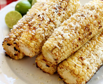 Grilled Corn with Fresh Lime and Cotija Cheese