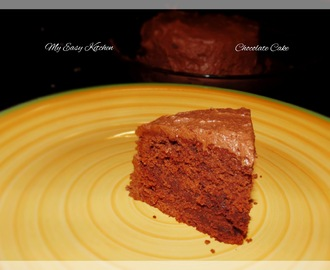 Easy Chocolate Cake with Buttercream Cocoa Frosting / How to make easy Chocolate Cake