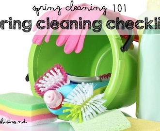 Spring Cleaning 101:  A Printable Spring Cleaning Checklist