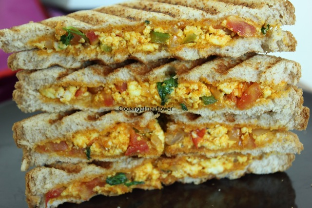 Paneer bhurji sandwich / Video recipe
