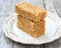 3 Ingredient Healthy Peanut Butter Rice Krispie Treats
