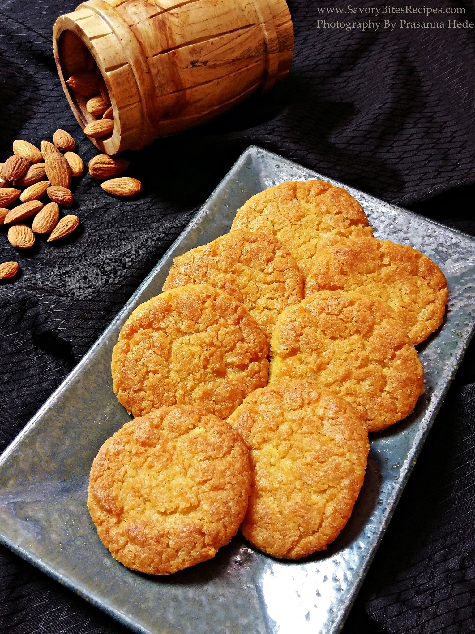 Eggless Almond Coconut Cookies