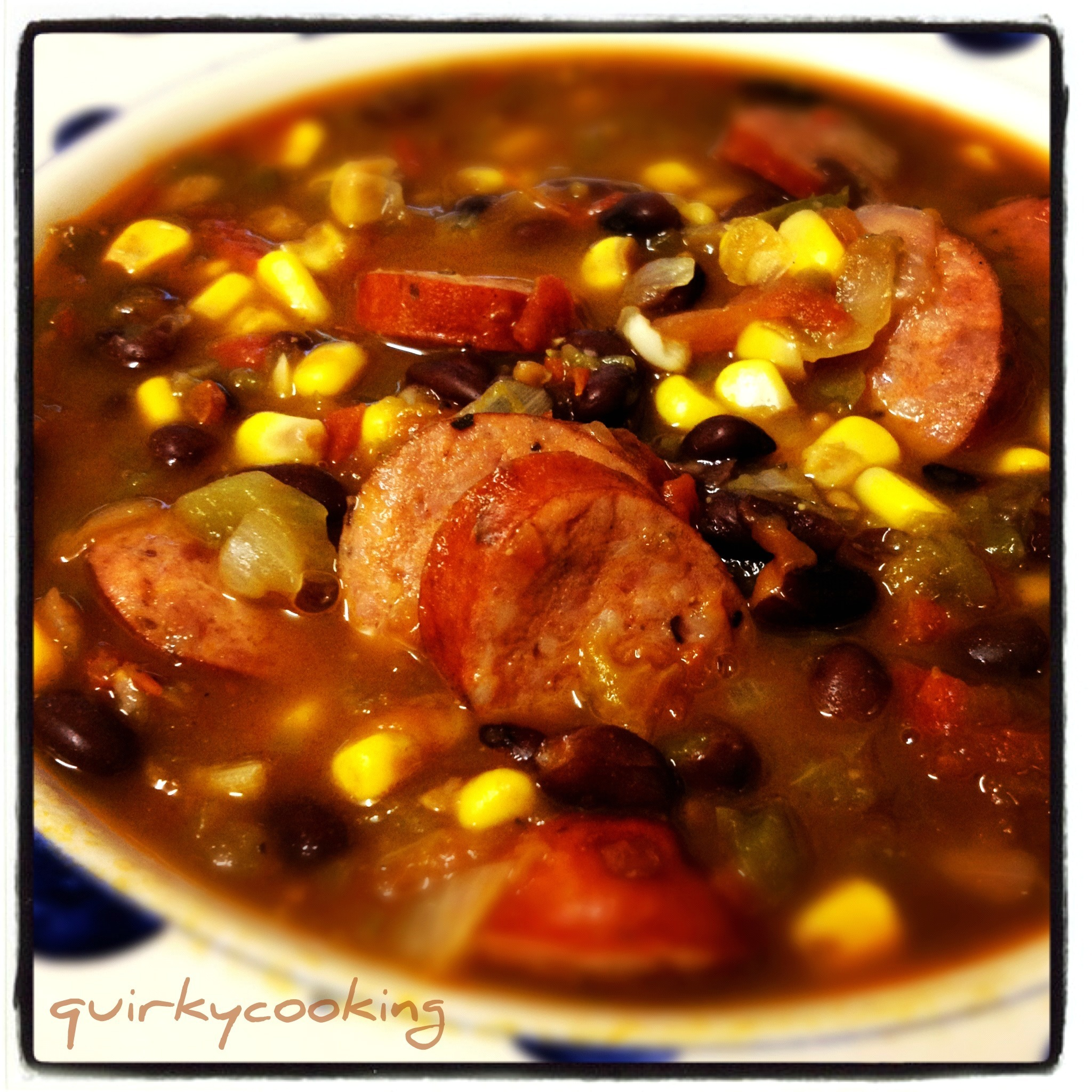 Mexican Black Bean & Chorizo Soup