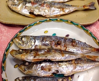 アジの塩焼き Grilled horse mackerel