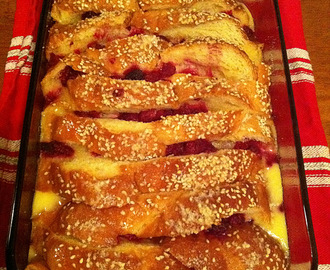 Donna Hay's White Chocolate and Raspberry Bread and Butter Pudding