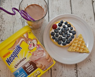 Ice Cream Cone Waffle - Creative Breakfast for Kids