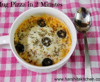 Mug Pizza Recipe | Microwave Pizza in 2 Minutes