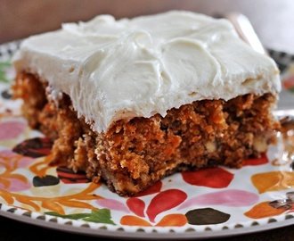 Ina's Carrot and Pineapple Cake with Cream Cheese Frosting