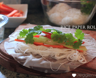 Easy peasy rice paper rolls