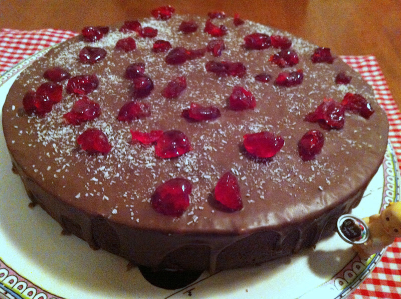 Treen's Cherry Ripe Fudge Cake