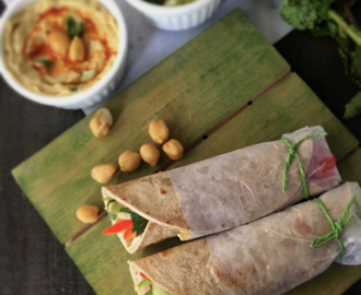 Lebanese Wrap | How to make Lebanese Wrap At Home |  Vegan Recipe | Stepwise Pictures | Quick and Healthy Recipe