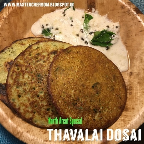 Murungai Keerai Thavalai Dosai | North Arcot Special Moringa leaves Pancake| How to make Thavalai Dosai | Stepwise pictures | Instant Dosa Recipe
