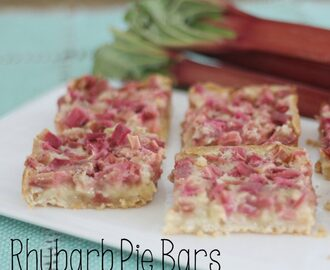 Rhubarb Pie Bars
