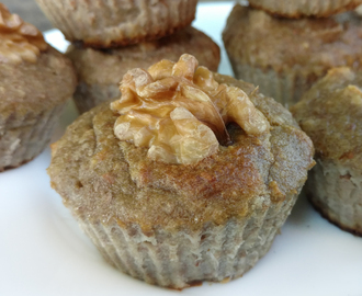 4 Ingredient Banana Nut Muffins (Paleo, Flourless & Sugar-free)