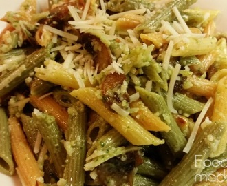 Pesto Pasta and Mushrooms